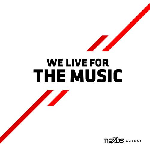 we live for the music, branding post nexus agency oldenzaal