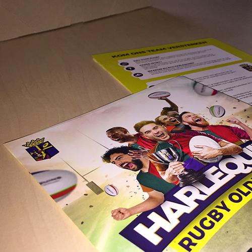 Grafisch ontwerp en flyers drukken - Rugbyclub Oldenzaal