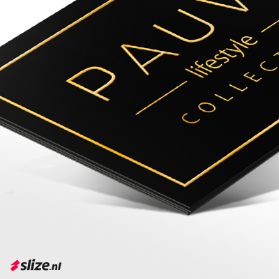 Luxe en exclusief drukwerk met goud | Slize x Pauw Lifestyle Oldenzaal