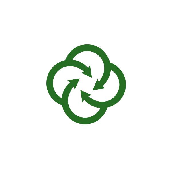 Afvalverwerking en recycling Enschede - Icoon / symbool ontwerp