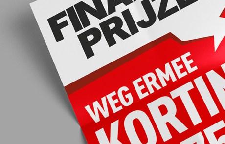 Schreeuwerige uitverkoop poster voor Ultimo Oldenzaal - Finale prijzen, final sale