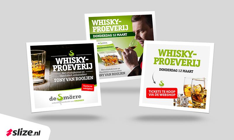 Social media plaatjes maken voor de whiskyproeverij