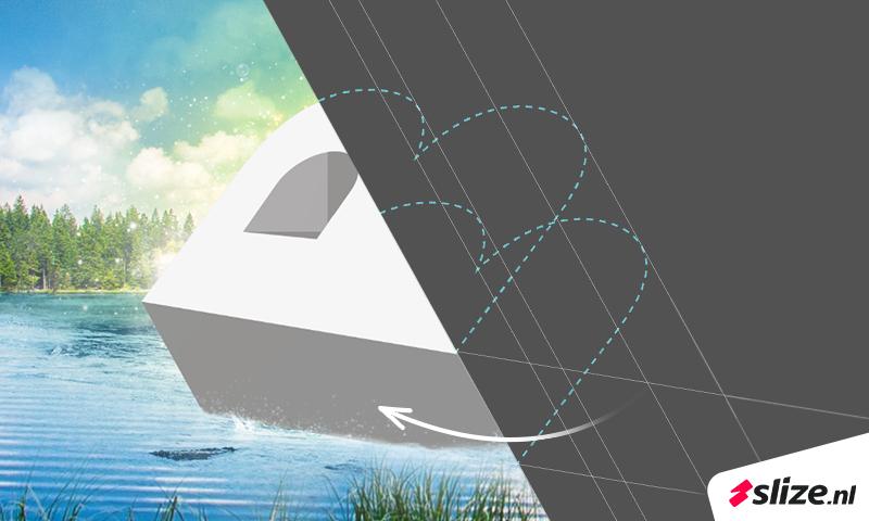 Van illustrator naar photoshop. Event design artwork maken. Voor en na beeld, van tekening naar resultaat.