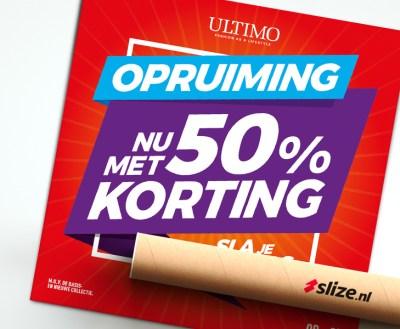 Ultimo Mode Oldenzaal - zomersale uitverkoop vierkante poster