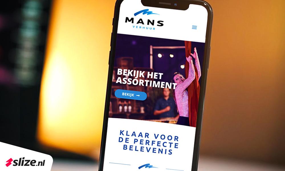 Responsive website en webshop voor Mans Verhuur Oldenzaal