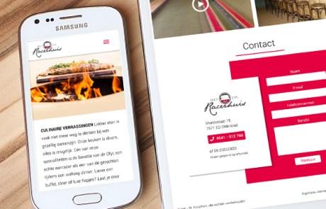 Nieuwe website bouwen voor het JW Racerhuis in Oldenzaal