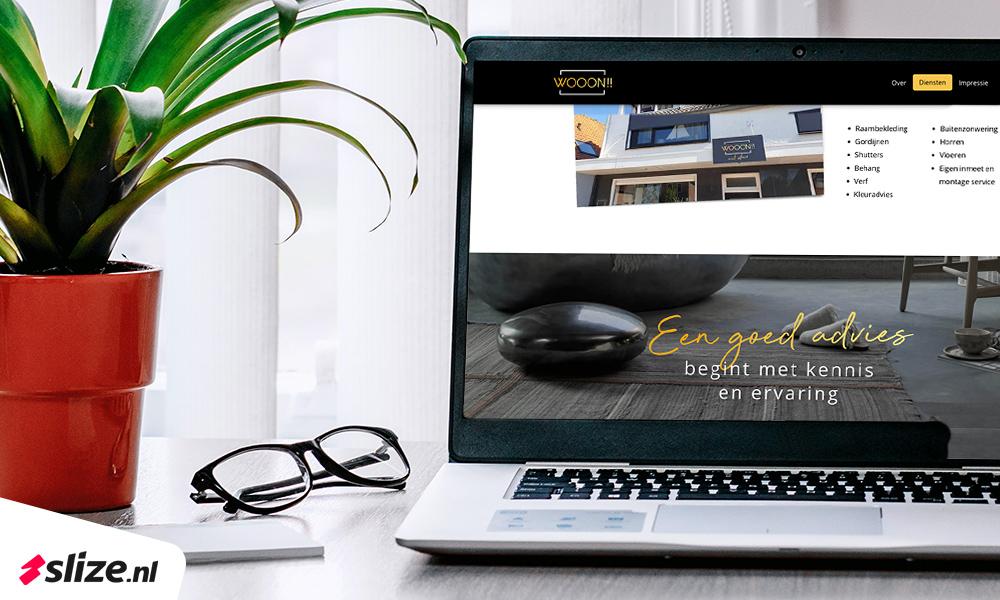 One page website laten maken | Slize Oldenzaal x Wooon De Lutte