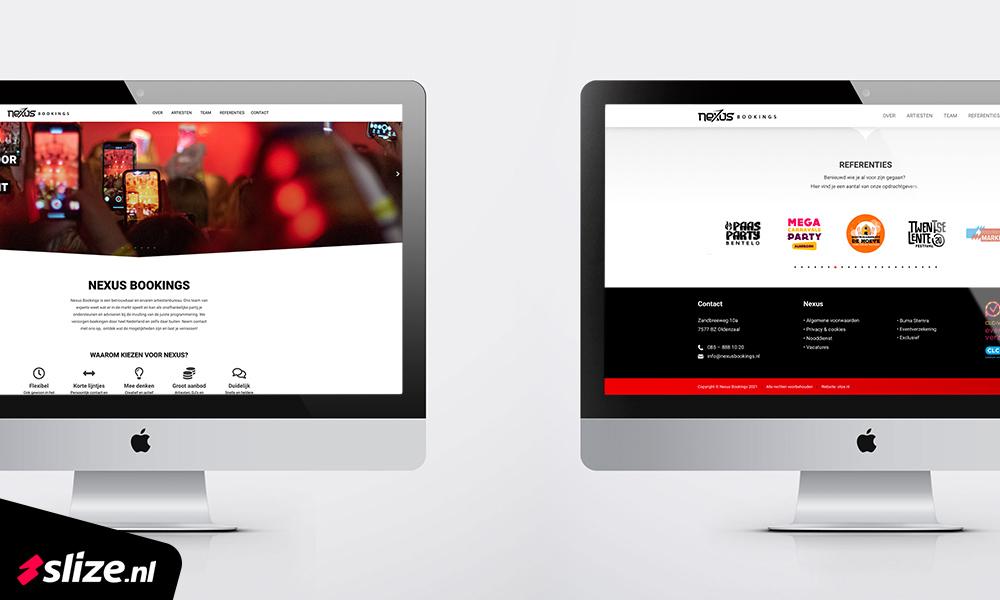 Professionele nieuwe website maken - Nexus Bookings Oldenzaal