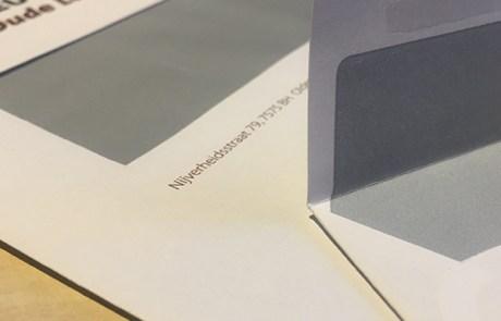 Zelfklevende enveloppen bedrukken   Drukwerk Oldenzaal van Slize.nl