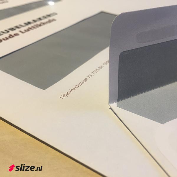 Zelfklevende enveloppen bedrukken | Drukwerk Oldenzaal van Slize.nl