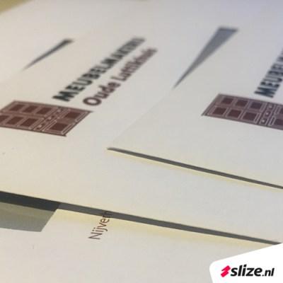 Close up foto van gedrukte enveloppen | Enveloppen met logo bedrukken | Drukwerk van Slize Oldenzaal