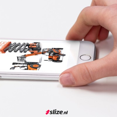 Mobiel website ontwerp voor Aalderson Rental Enschede