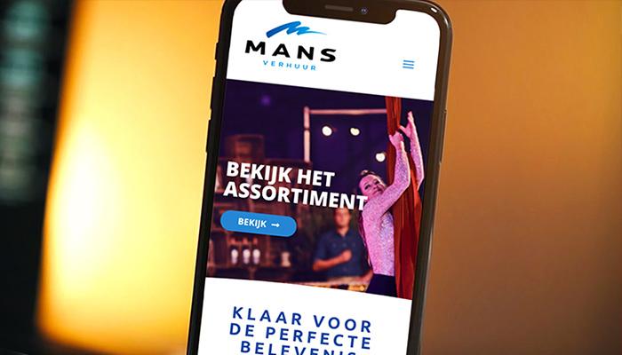 Responsive website ontwerp voor MANS verhuur in Oldenzaal