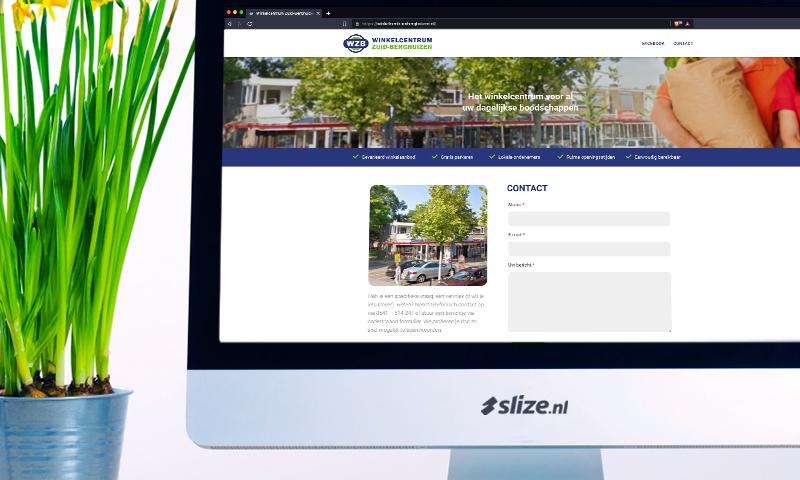 Overname en realisatie nieuwe website voor winkelcentrum Zuid-Berghuizen