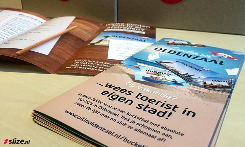 Bucketlist Oldenzaal - 3-luik gevouwen foldertjes drukken en verspreiden