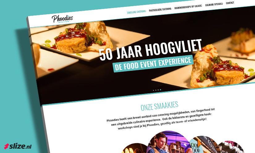 Nieuw website ontwerp maken voor Phoodies Oldenzaal