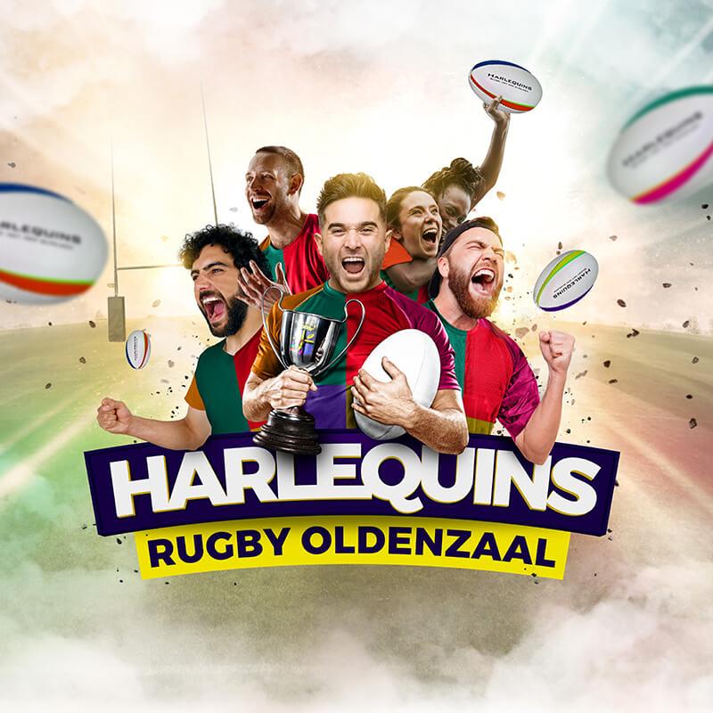 Rugbyclub Harlequins Oldenzaal - Grafisch ontwerp & campagne visual maken