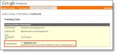 Google Analytics Blogger Dashboard Success