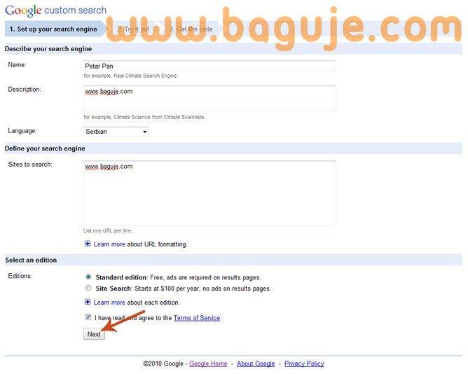 Google CSE na Bloggeru sa rezultatima u istom prozoru
