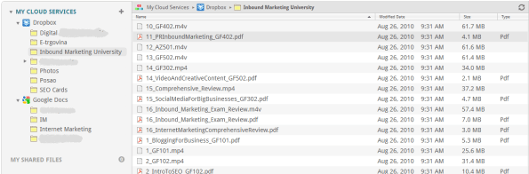 Google Docs i Dropbox u Otixo
