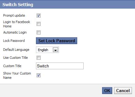 napredne opcije Fejsbuk Switch Account skripta