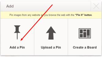 Pinterest-add a pin
