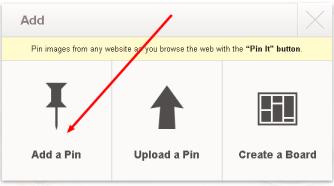 Pinterest-add a pin