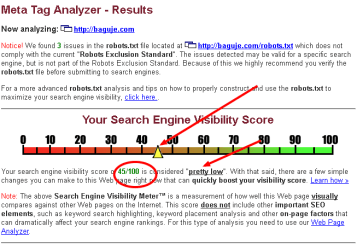 Web page analyzer