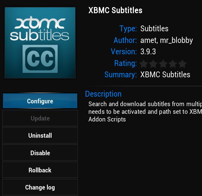 xbmc subtitles configure