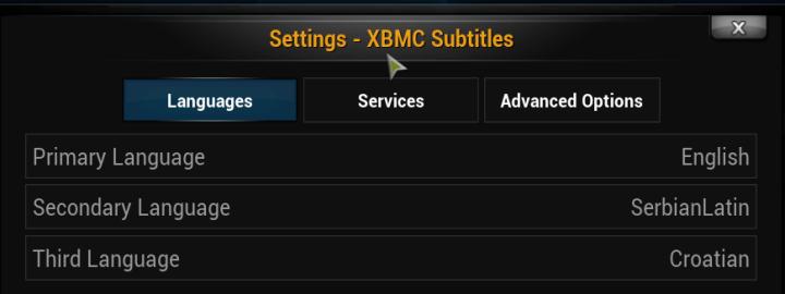 xbmc subtitles languages