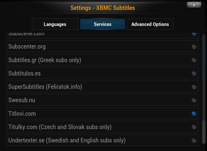 xbmc subtitles services