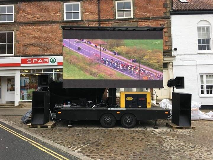 LED trailer in use