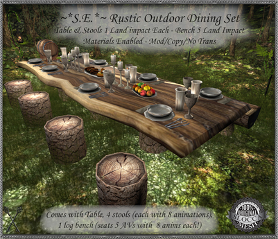 s e rustic outdoor dining set