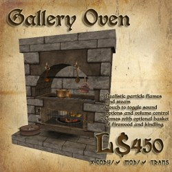 Second Life Marketplace Shade Medieval Gallery Oven