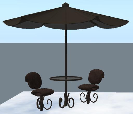 patio table umbrella set tranfer no