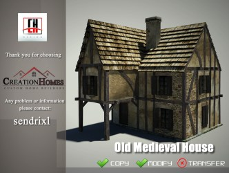 Second Life Marketplace Old Medieval House