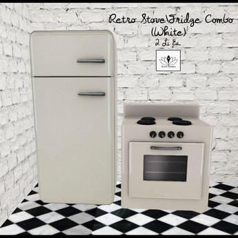 retro fridge stove combo white
