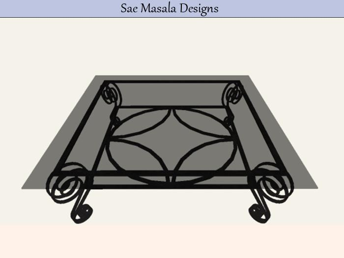 antique wrought iron coffee table