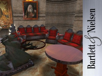 Second Life Marketplace Gothic Carved 8 Piece Medieval Living Room Furniture Set