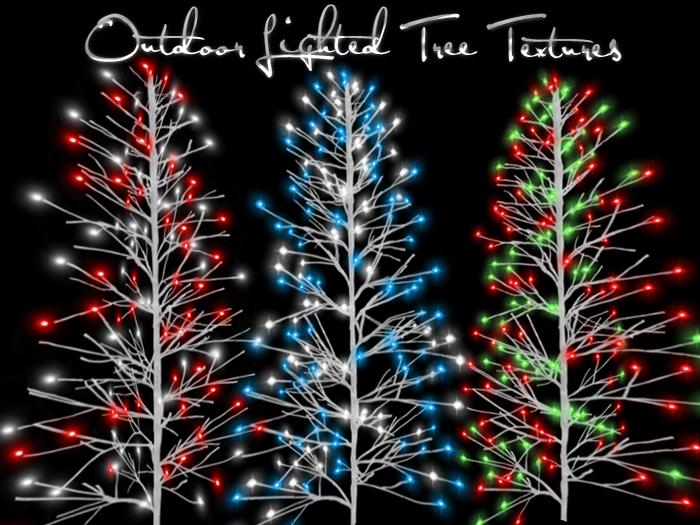 full perm 3 outdoor lighted tree