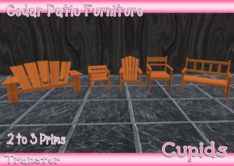 cedar patio furniture