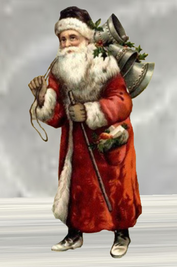 He Has A Red Red Coat : Second, Marketplace, Vintage, Father, Christmas, Santa, Bells,