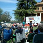 People Arriving at the Atascadero Tea Party Rally and Getting Settled