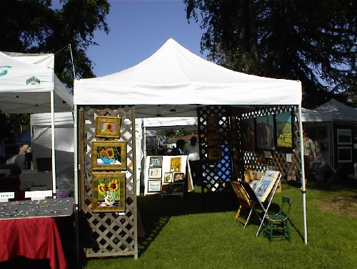 Booth at Day in the Shade, Templeton, 2010