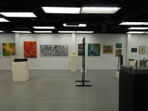 One Long Wall of Art at First Phantom Project Show