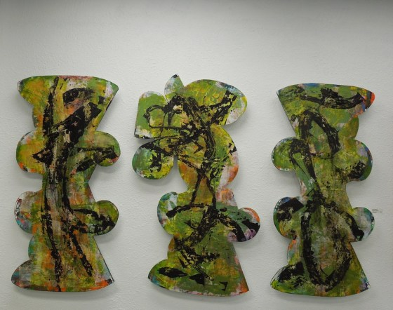 PENUMBRA SERIES TRIPTYCH #l,ll,lll - Acrylic on Canvas on Panel