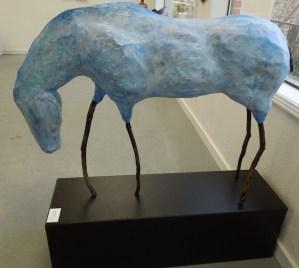 "Barbara Radovich's ""Blue Horse"" of Papier Mache"