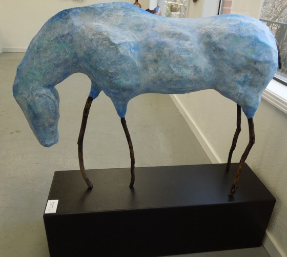 "Barbara Radovich's ""Blue Horse"" of Papier Mache"