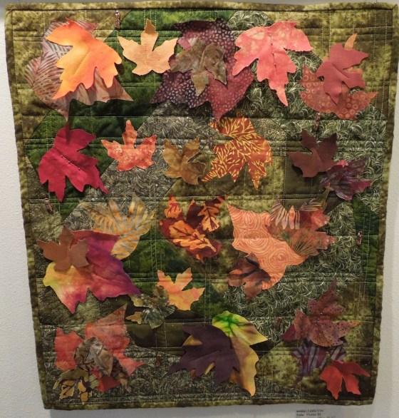 """Flutter III"" Art Quilt by Leslie Coe"