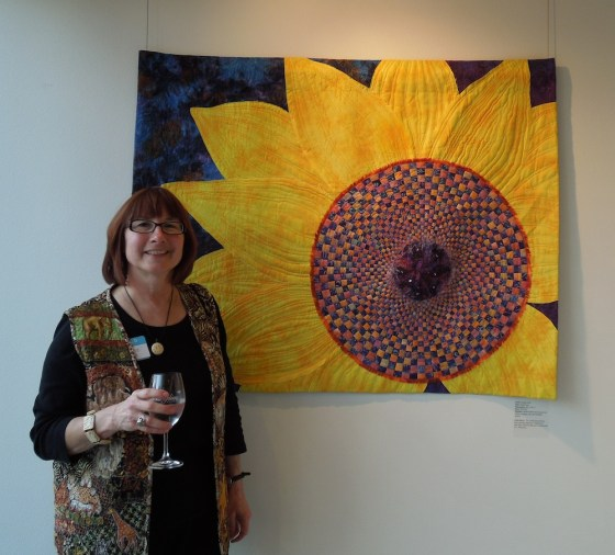 """Petalicious"" An Art Quilt by Jeanne Aird"
